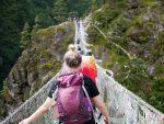 suspension bridge nepal, pokhara, nepāla, ceļojums uz nepālu