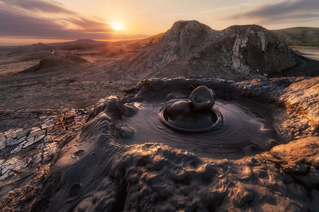Dubļu vulkāni Azerbaidžānā